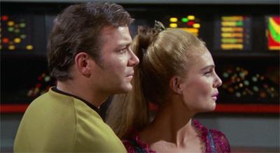 A woman in every replica Enterprise.