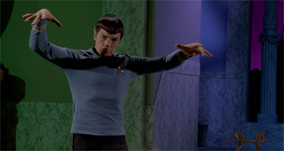 Spock's reenactment of Spock's Brain went down a treat.