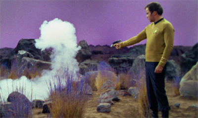Kirk's plans go up in smoke.