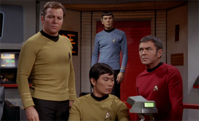 One of the episode's nicer touches is the fact that Scotty seems to (for no reason explored) have a pathological mistrust of space!hippies.