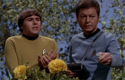 """Dammit, Mister Chekov. Did you learn nothing from The Apple?"""