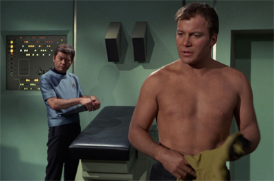 """Alright, Kirk. Keep your shirt on."""