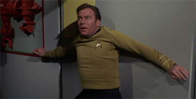 Kirk's back is against the wall.