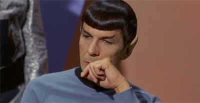 Hard for Nimoy to swallow.