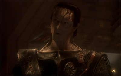 Sneaking into the heart of the Empire? That Dukat's got some Gul.