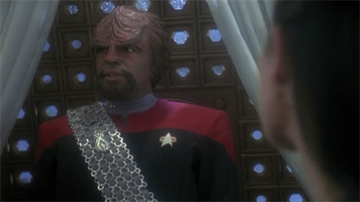 Raining on Worf's parade.