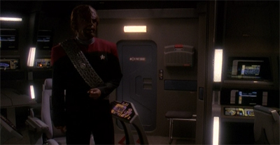 Of course Worf is the kind of douchebag who blares opera in his house at all hours of the morning.