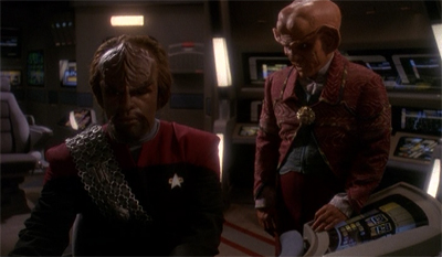 """We are nothing alike, Ferengi."" ""Yeah. I'd never mind-wipe my brother."""