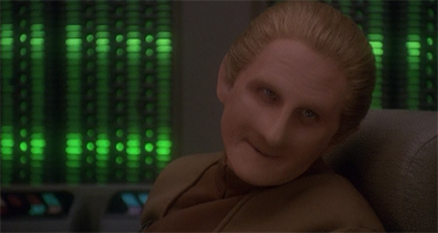 "Odo has ""Miles"" to go before he becomes a fully-grown adult."