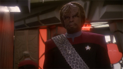 Worf speeds ahead.