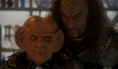 The (breaking every bone in Quark's) body guard.