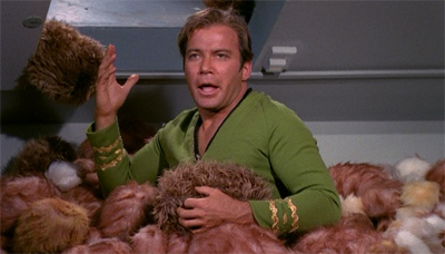 Once again, it is worth pointing that Kirk is buried in dead tribbles.