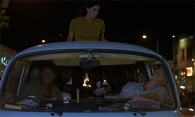 """If you don't come down from there, I'm turning this van around and taking us right back to the twenty-fourth century."""