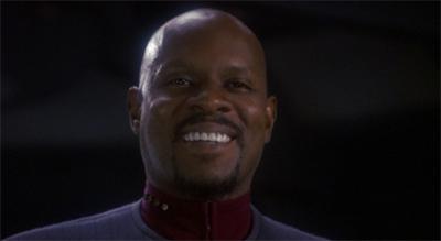 Fortune smiles upon Sisko, and Sisko smiles back.