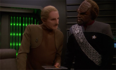 You knwo, for a dude who is a god himself, you think Odo would be a bit more religiously tolerant.
