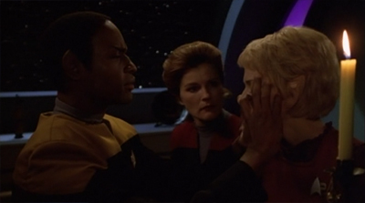 """You can't let Chakotay be the commanding officer. He doesn't have the flexible morals that would allow us to ally ourselves with the Borg."""