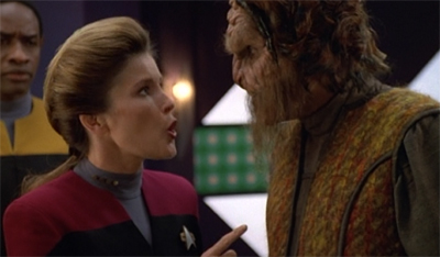 Janeway can't Bahrat any longer.