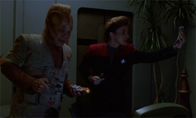 """Somebody watching 'A Briefing with Neelix' on loop? Now I know there's something wrong."""