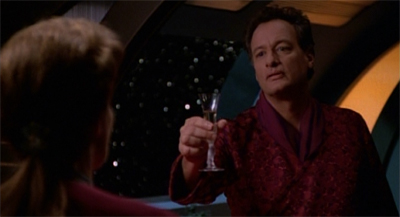 """A toast. To ten years of Q guest appearances!"""