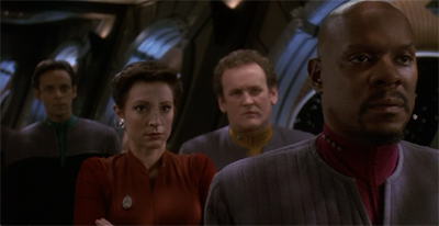 """Dukat, that mother-- sorry, Major."""
