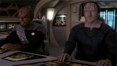 """Okay. If the Jem'Hadar ask, we're on a family vacation and we took a wrong turn at Karemma space."""