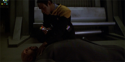 """He's dead, Neelix. Oh, wait. Wrong member of the original trio."""