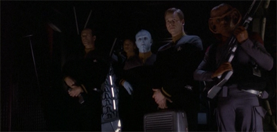 """You're good crew, but you're also mostly guest stars. I'm fairly certain only one of you will get out of this alive."""