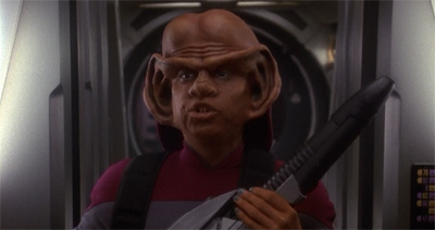 Nog, knowing he was only a recurring guest star, came prepared for the trip ahead.