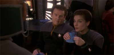 """No traditional Ferengi male could ever marry a non-Ferengi and be happy. He could never trust her. But lucky you're not a real Ferengi, eh?"" Jadzia Dax, relationship counsellor."
