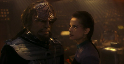 """I mean, it could be worse, Worf. Alexander or Kor could be here."""