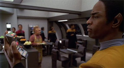 Tuvok's periodic check to ensure that Neelix is not making any cheese.