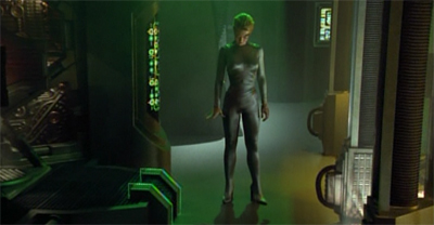 Getting a jump(suit) start on T'Pol.