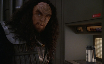 Martok is mainly here for the raktajino.