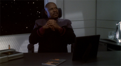 Honestly, Sisko is very flattered that Dukat still thinks of him.