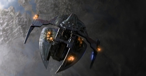 The Jem'Hadar warship that fell to Earth...