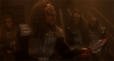 Klingon Combat 101: The Pointy End Goes in the Other Guy.