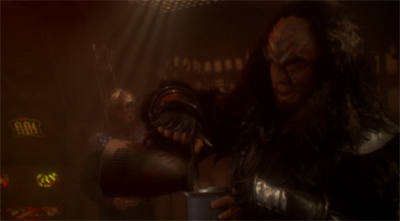 """Sorry, Worf. You will never be as good a father as Gul Dukat. You need to set yourself a more realistic target. Like the alien species from Child's Play."""