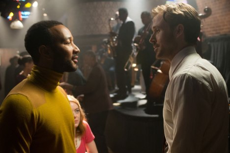 Ryan Gosling and John Legend in La La Land (2016) Titles: La La Land People: Ryan Gosling, John Legend Photo by Dale Robinette