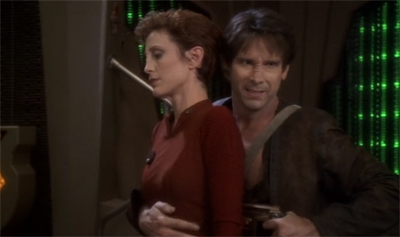 """Still a better first date than Captain Boday,"" Kira thinks to herself."